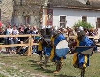De slag van de ridder Royalty-vrije Stock Foto's