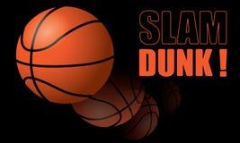 De Slag van het basketbal dompelt onder! Stock Foto's