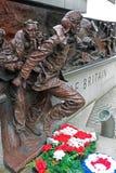 De slag van het Gedenkteken van Groot-Brittannië op de Dijk van Theems, Londen, Engeland stock afbeelding