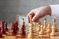 De slag van het schaak Stock Afbeelding