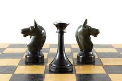 De slag van het schaak Royalty-vrije Stock Afbeeldingen