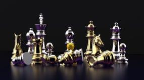 De slag van het schaak - nederlaag Stock Foto