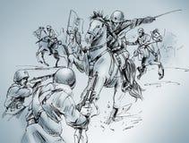 De slag van Isbuscenskij stock illustratie