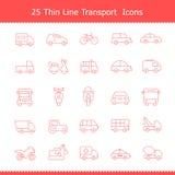 De Slag van Thinline van vervoerpictogrammen royalty-vrije illustratie