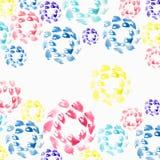 De slagen van de waterverfborstel, kijken als bloemblaadjes van kleurrijke bloem stock illustratie