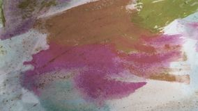 De slagen van de waterverfverf Het art. van de inktmorserij Fragment van kunstwerk Themakader stock afbeelding