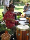 De Slagwerker van de Band van de jazz Stock Afbeelding