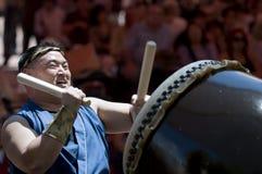 De slagwerker van Taiko Stock Afbeelding