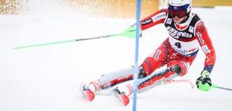 De Slalom van de Wereldbekermensen van Audi FIS stock foto