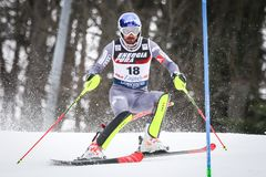 De Slalom van de Wereldbekermensen van Audi FIS royalty-vrije stock foto