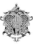 De slang van zwaardvleugels Royalty-vrije Stock Afbeeldingen
