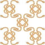 De slangen strengelen patroon ineen Stock Foto