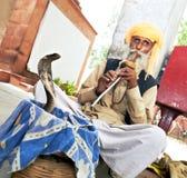 De Slangenbezweerder van India royalty-vrije stock afbeelding