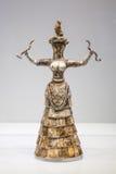 De Slanggodin van het Minoanbeeldje in Archeologisch Heraklion stock fotografie