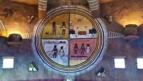 De slangmuurschildering van de Hopiruimte in Watchtower van Grand Canyon stock afbeelding