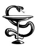De slangsymbool van de geneeskunde Stock Foto
