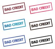 De slechte inzameling van de Krediet rechthoekige zegel stock illustratie