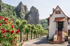 De slechte Stenen bierkroes van Muenster am, Duitsland, Rijnland-Palatinaat Stock Foto's