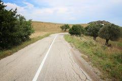De slechte weg van Italië stock fotografie