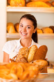 De slechts beste en verse bakkerij Stock Foto