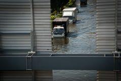 De slechtste vloed van Bangkok in 2011 Royalty-vrije Stock Afbeeldingen