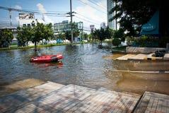 De slechtste vloed van Bangkok in 2011 Stock Fotografie