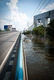 De slechtste vloed van Bangkok in 2011 Stock Foto's