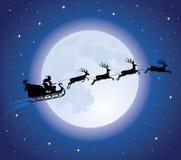 De slee van de kerstman. Stock Afbeeldingen