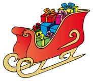 De slee van Kerstmis op witte achtergrond Royalty-vrije Stock Fotografie