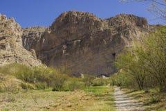 De sleep aan Boquillas-Canion, Groot Krommings Nationaal Park Royalty-vrije Stock Afbeelding