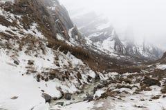 De Sleep van de Annapurnatrekking in West-Nepal Royalty-vrije Stock Fotografie