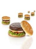 De sleep van de hamburger royalty-vrije stock afbeeldingen