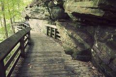 De sleep van de toerist in het Nationale Park van de Vallei Cuyahoga Stock Afbeeldingen