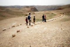 De sleep van het avontuur in de woestijn stock afbeelding