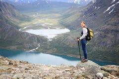De sleep van Noorwegen Besseggen royalty-vrije stock afbeelding