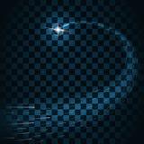 De sleep van steruitbarstingen fonkelt transparante achtergrond Royalty-vrije Stock Afbeelding