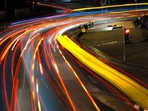 De Sleep van voertuigenlichten Royalty-vrije Stock Fotografie