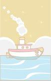 De Sleepboot van het stuk speelgoed Stock Afbeeldingen