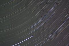 De Slepen van de ster in de Groene en Roze Hemel van de Nacht Royalty-vrije Stock Foto