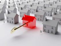 De sleutel tot de immobiliënmarkt Stock Foto's