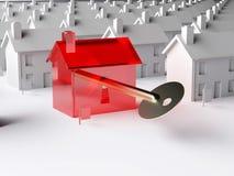 De sleutel tot de immobiliënmarkt Stock Afbeelding