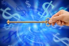 De sleutel tot Geld Royalty-vrije Stock Afbeeldingen