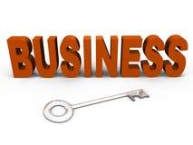 De sleutel tot goede zaken - een 3d beeld Stock Foto