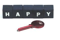 De sleutel tot het gelukkig leven Stock Afbeeldingen