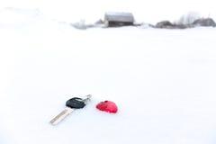 De sleutel tot het huis. royalty-vrije stock foto's