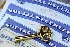 De sleutel tot sociale zekerheidvoordelen Stock Afbeelding