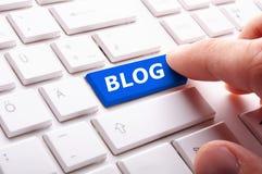 De sleutel van Blog Royalty-vrije Stock Afbeeldingen