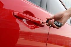 De sleutel van de auto Stock Afbeeldingen