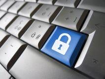 De Sleutel van de computergegevensbeveiliging Stock Afbeeldingen
