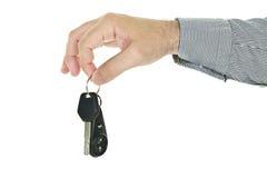 De sleutel van de de holdingsauto van de hand Royalty-vrije Stock Afbeeldingen